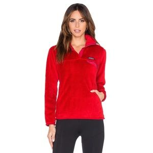 Patagonia red retool pullover sweater size Small